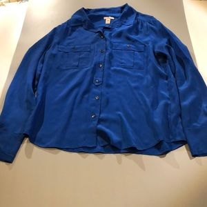 Jcrew 100% silk blouse